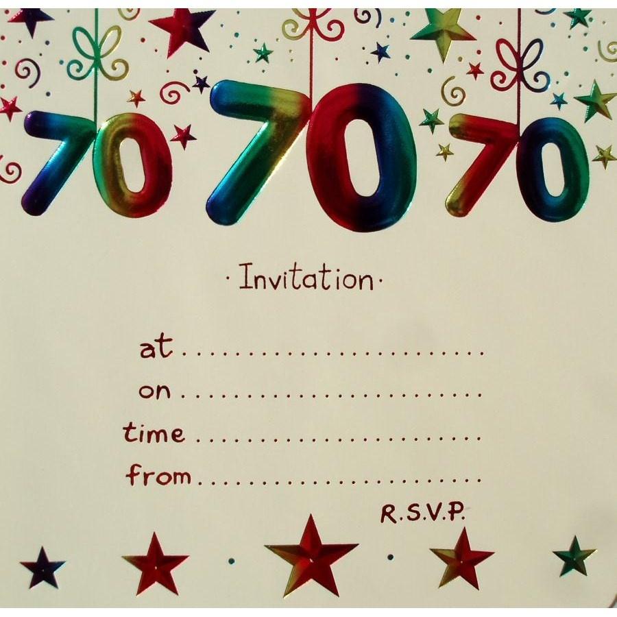 70Th Birthday Invitations Templates Free — Birthday Invitation Examples - Free Printable 70Th Birthday Party Invitations