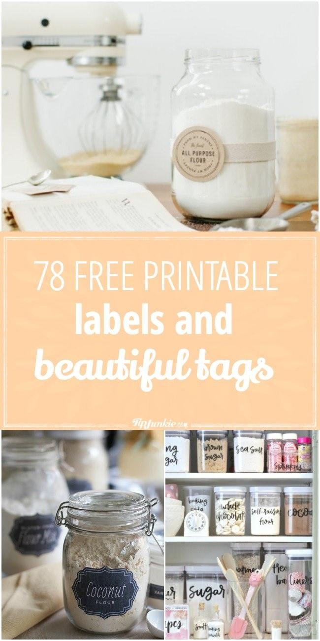 78 Free Printable Labels And Beautiful Tags – Tip Junkie - Free Printable Jar Label Templates
