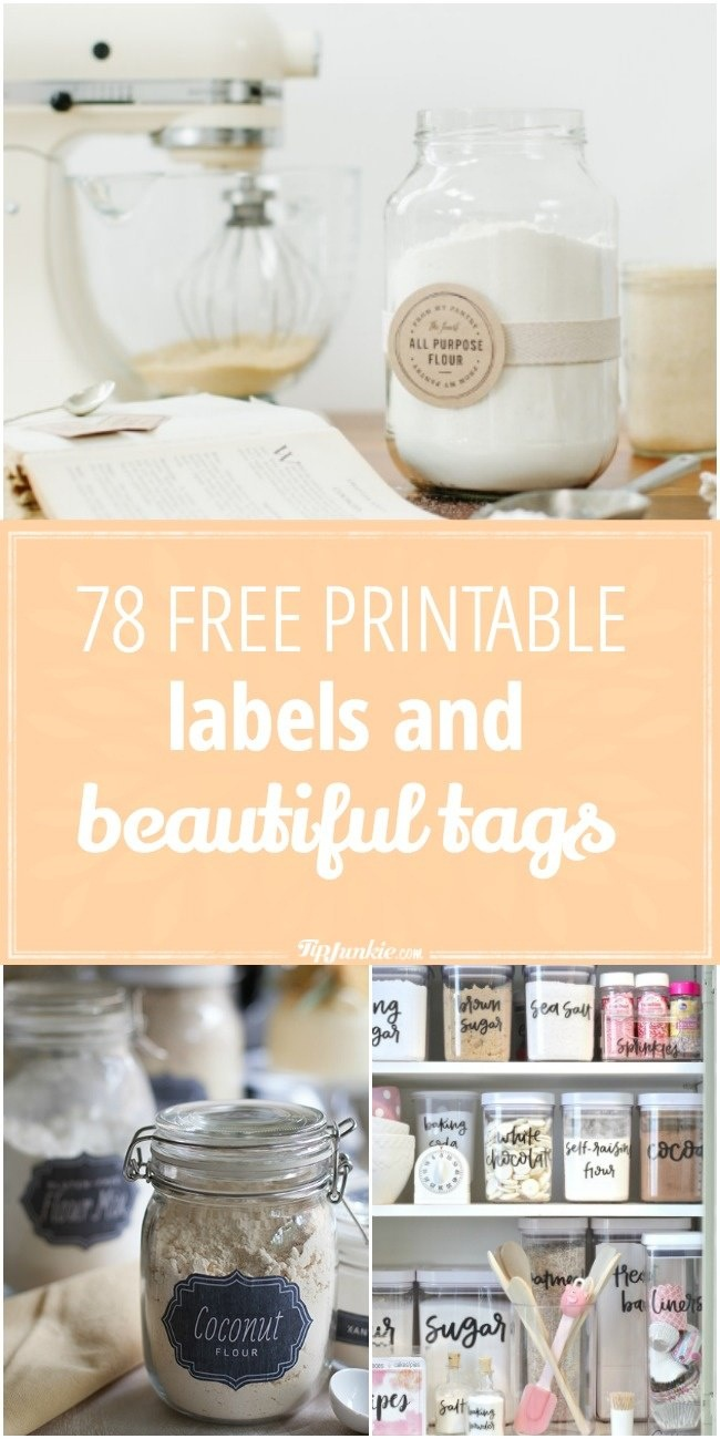 78 Free Printable Labels And Beautiful Tags – Tip Junkie - Free Printable Labels For Jars