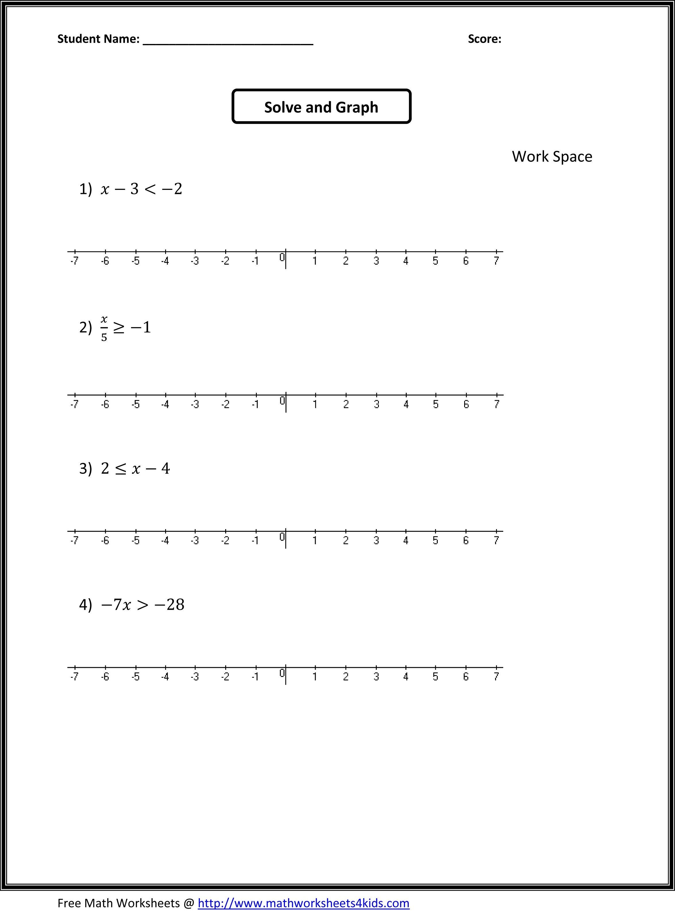 7Th Grade Algebra Worksheets | 7Th Grade Math Worksheets | Places To - Free Printable 8Th Grade Algebra Worksheets