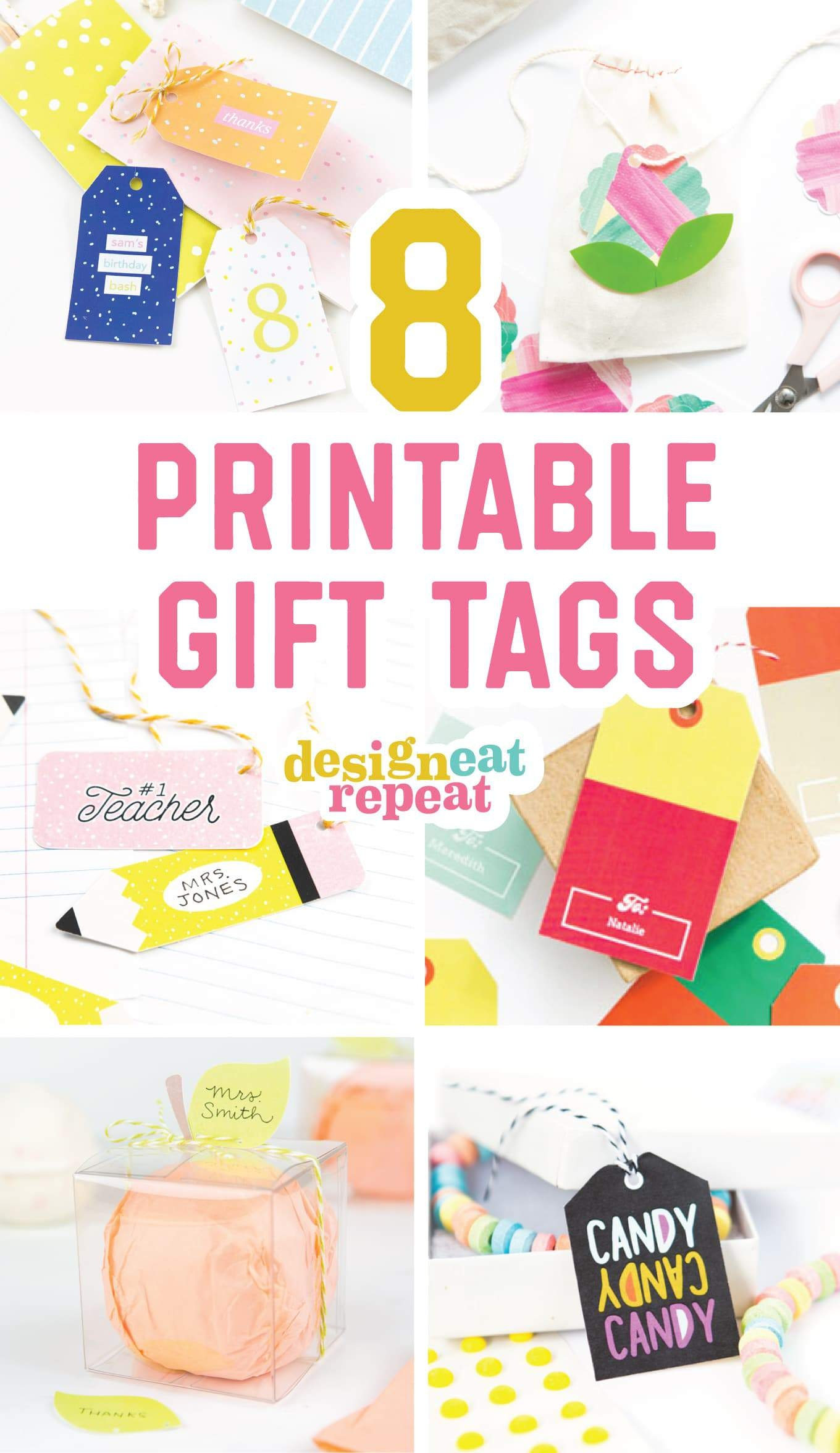 8 Colorful & Free Printable Gift Tags For Any Occasion! - Free Online Gift Tags Printable