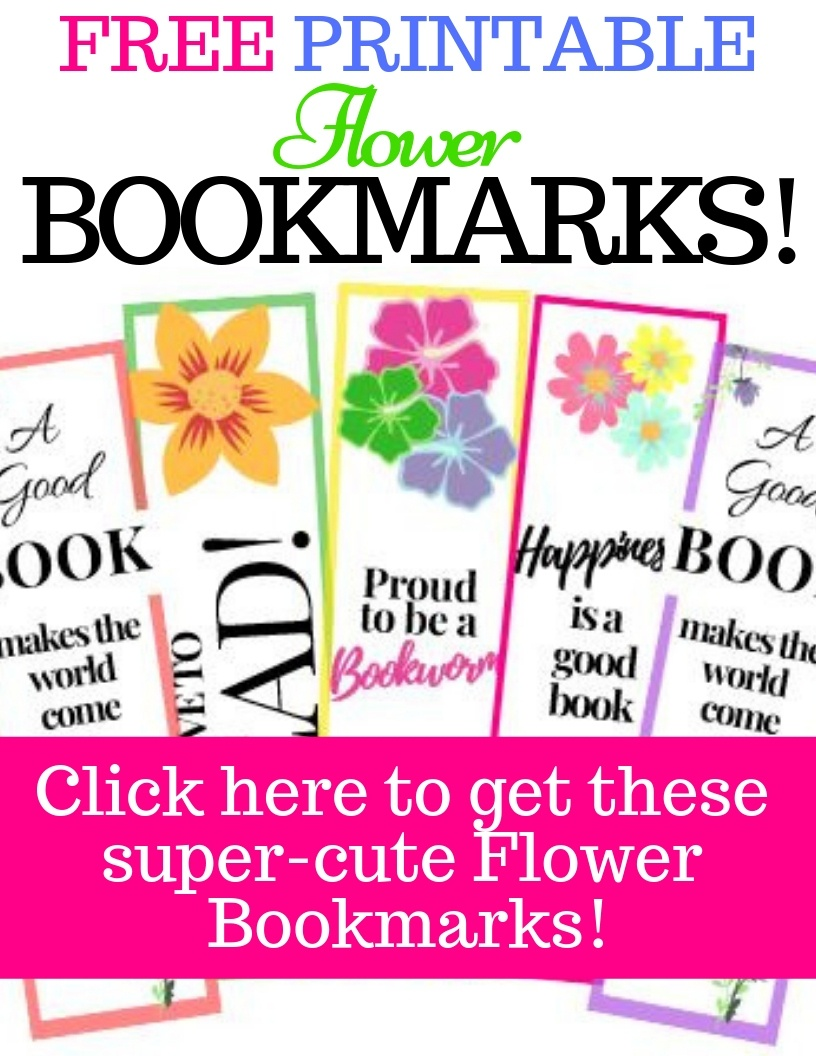 8 Free Printable Flower Bookmarks - Super Cute!!| My Three Readers - Free Printable Spring Bookmarks