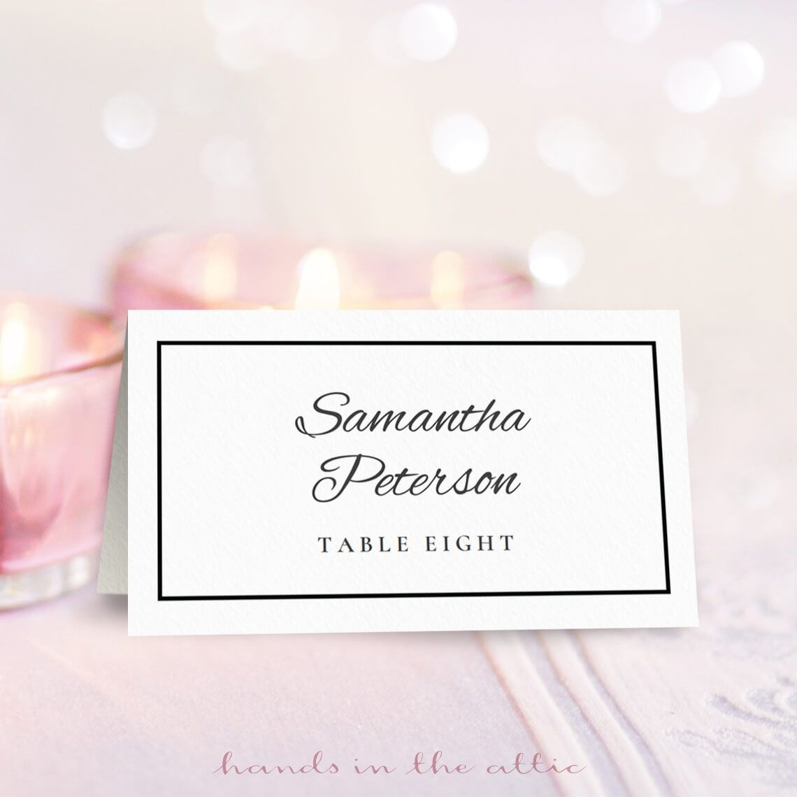 8 Free Wedding Place Card Templates - Free Printable Place Cards