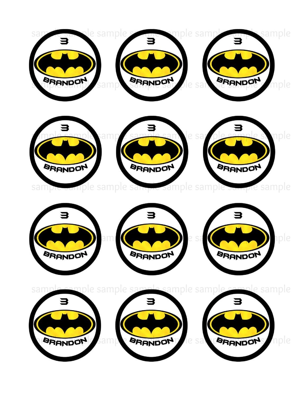 9 Batman Cupcakes Printables Photo - Free Printable Batman Cupcake - Batman Cupcake Toppers Free Printable