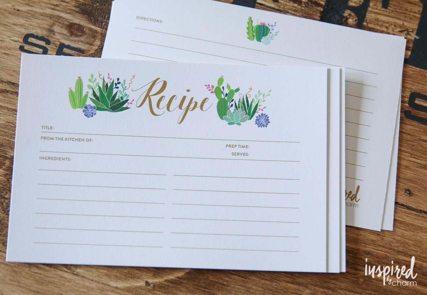 9 Free Printable Recipe Card Sets - Free Printable Recipe Cards