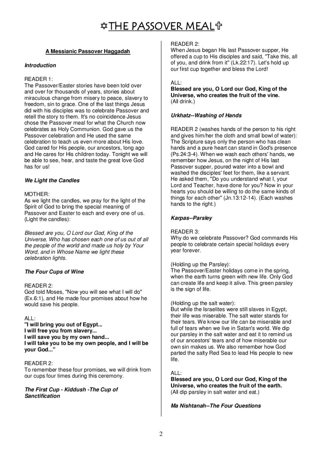 A Christian Passover Haggadah In 2019 | Bible Study | Passover - Free Printable Messianic Haggadah
