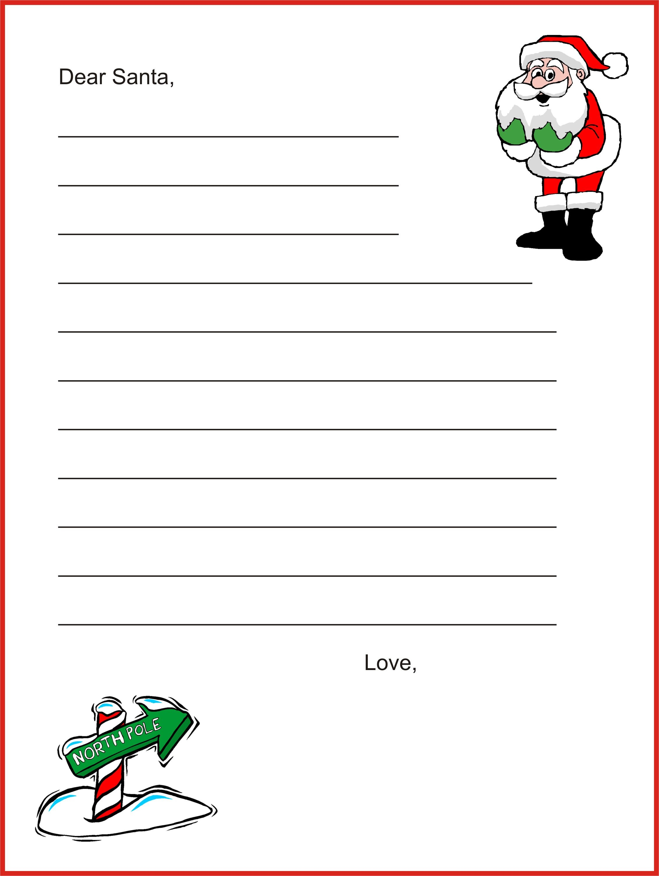 A Christmas Lesson Plan: Write A Letter To Santa Clause | Places To - Free Printable Dear Santa Stationary