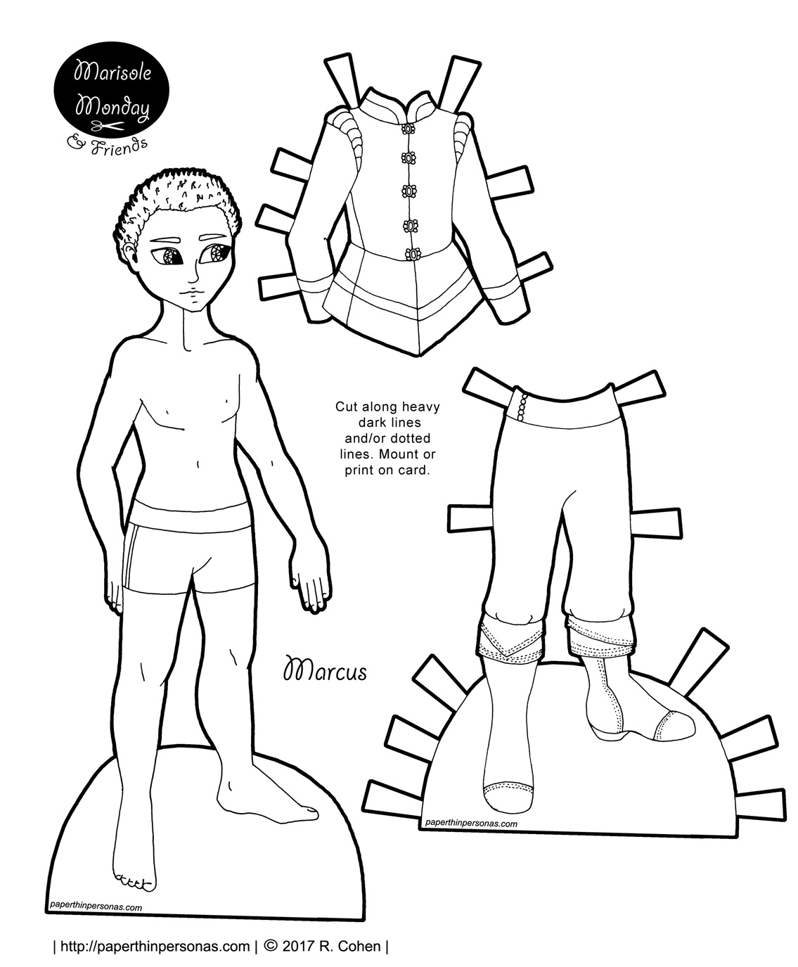 A Free Printable African-American Fairy Tale Prince Paper Doll - Free Printable Paper Dolls