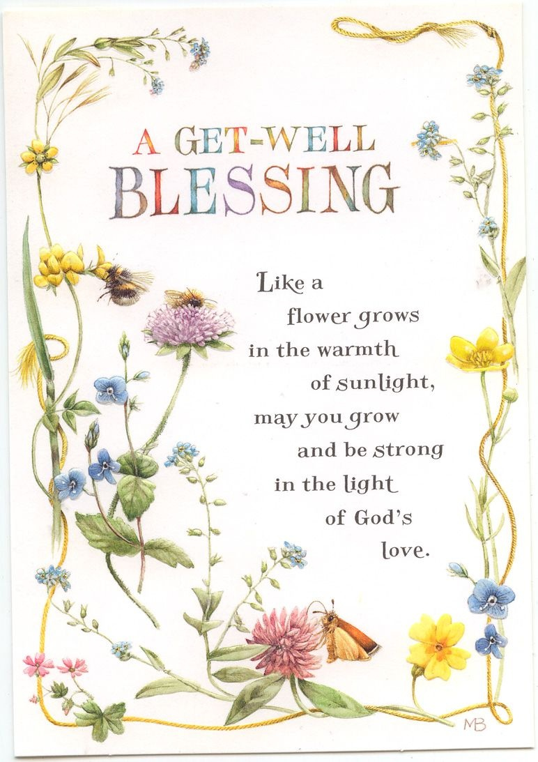 A Get Well Blessing Greeting Card | Feeling Stuck | Get Well Soon - Free Printable Christian Birthday Greeting Cards