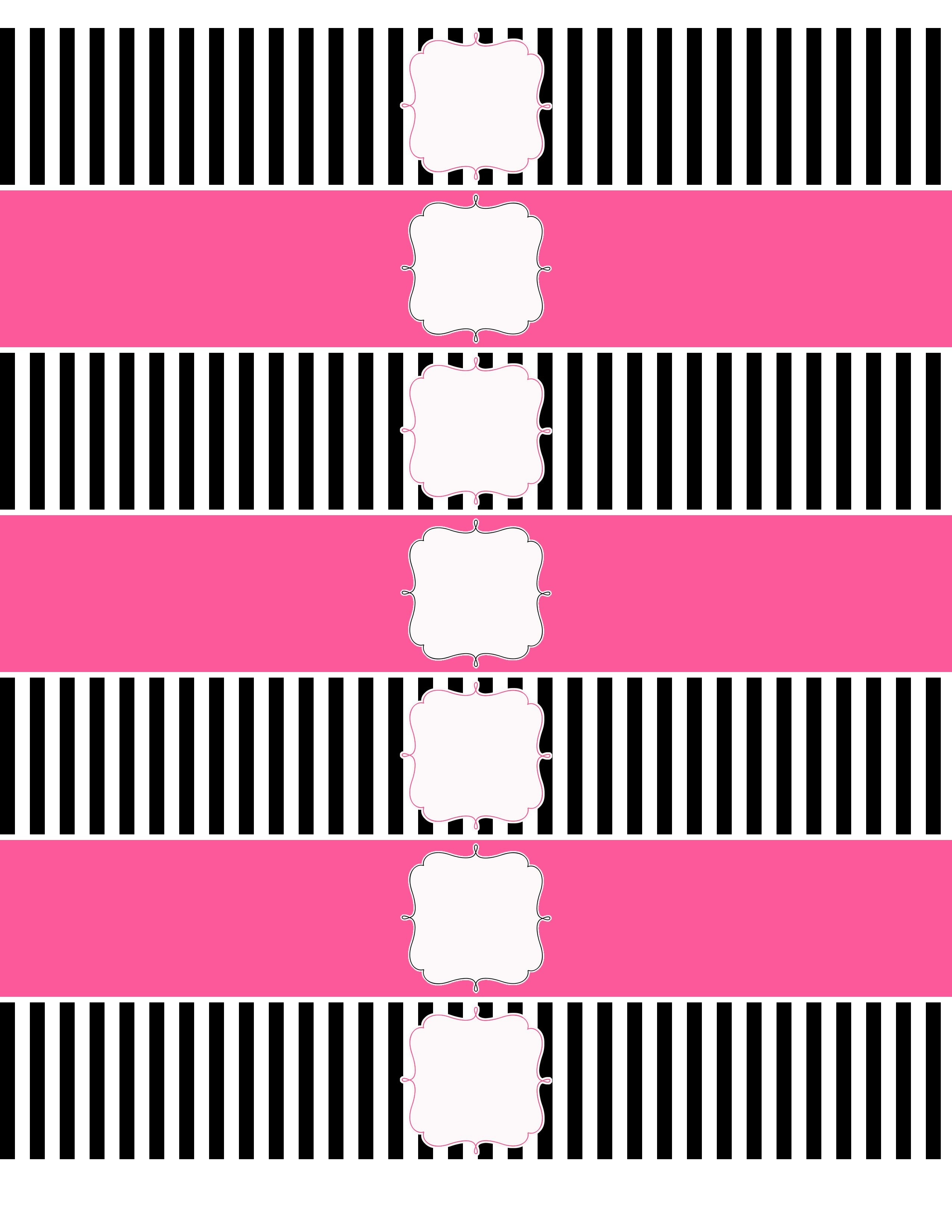 A Party For Miley | Free | Printable Water Bottle Labels, Bottle - Free Printable Paris Water Bottle Labels