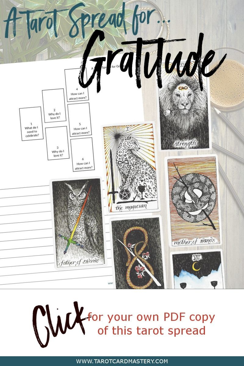 A Tarot Spread For Gratitude   Tarot Card Spreads   Tarot, Tarot - Printable Tarot Cards Pdf Free