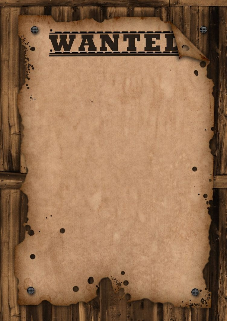 A Template Wanted Poster. Free For Use   Bulletin Boards   Wanted - Free Printable Wanted Poster Old West