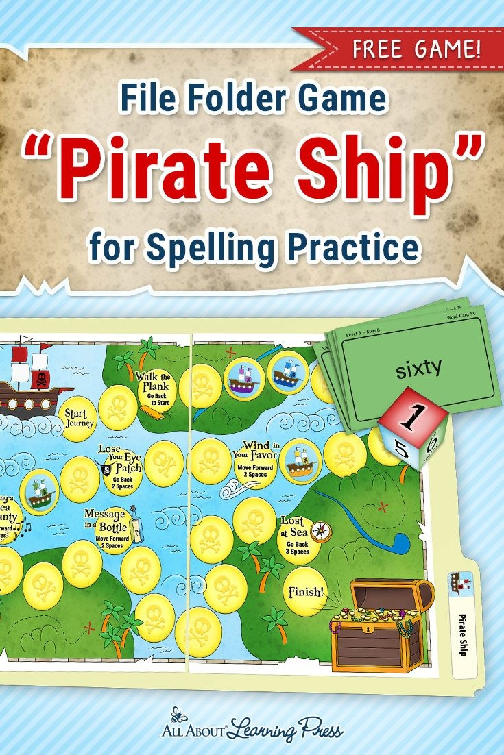 A Treasure Trove Of Pirate Activities For Reading And Spelling - Free Printable Folder Games
