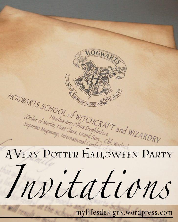 Harry Potter Birthday Invitations Free Printable