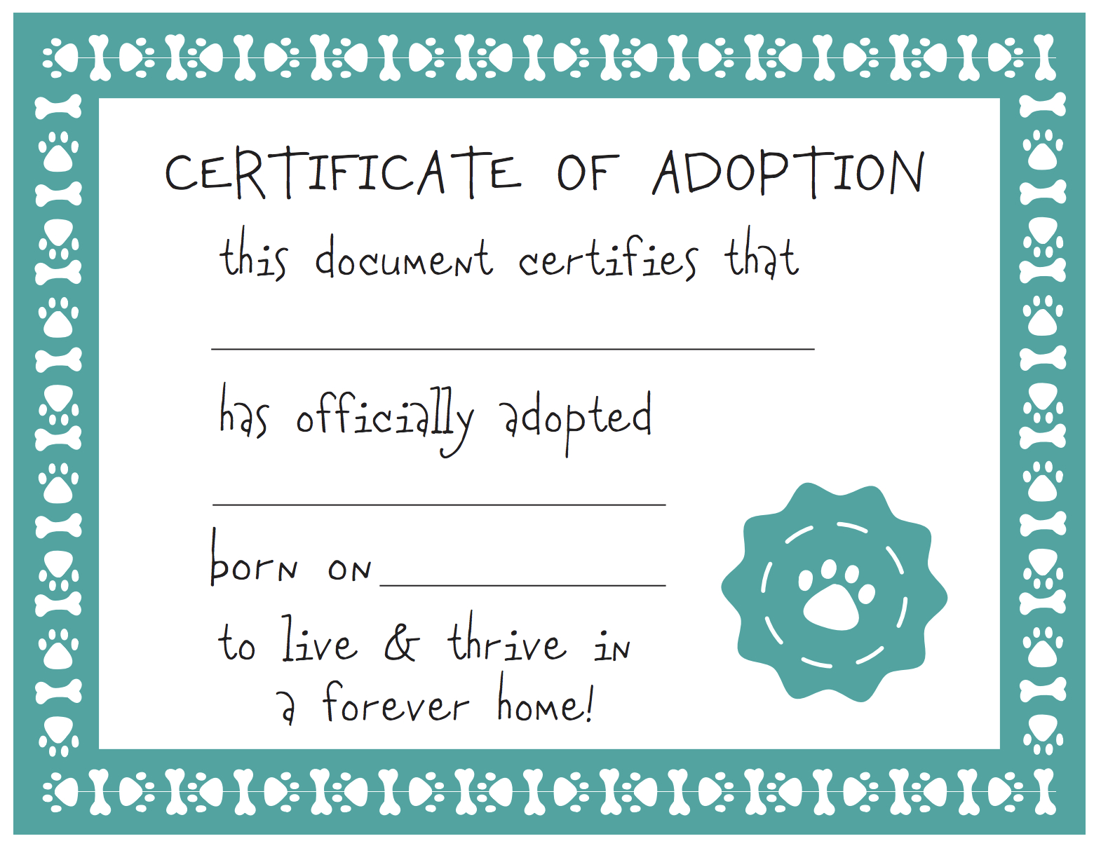 Adoption Certificate Template Free - Demir.iso-Consulting.co - Free Printable Stuffed Animal Adoption Certificate