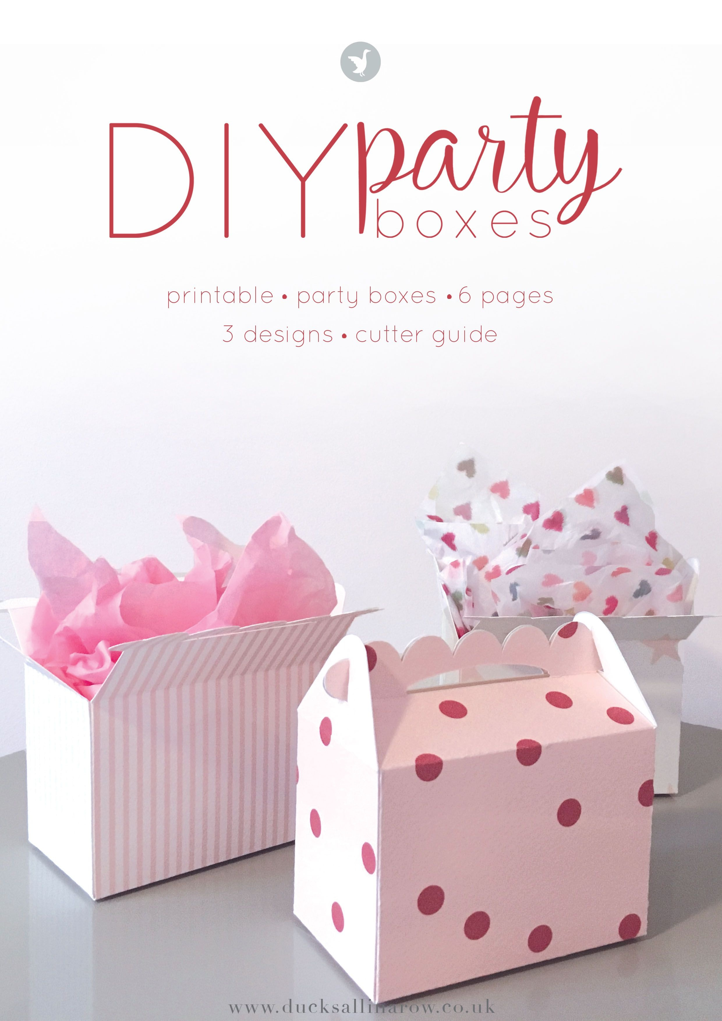 Adorable Diy Party Boxes - Free Printables   Gift Wrapping Ideas - Printable Box Templates Free Download