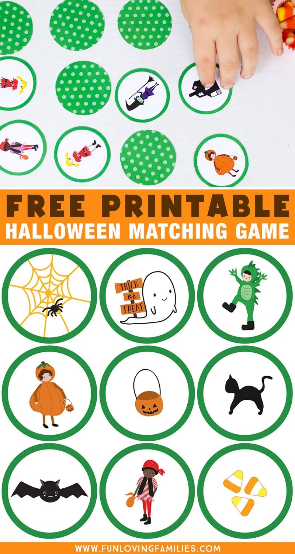 Adorable Halloween Matching Game For Kids | Halloween Printables - Free Printable Halloween Games For Kids
