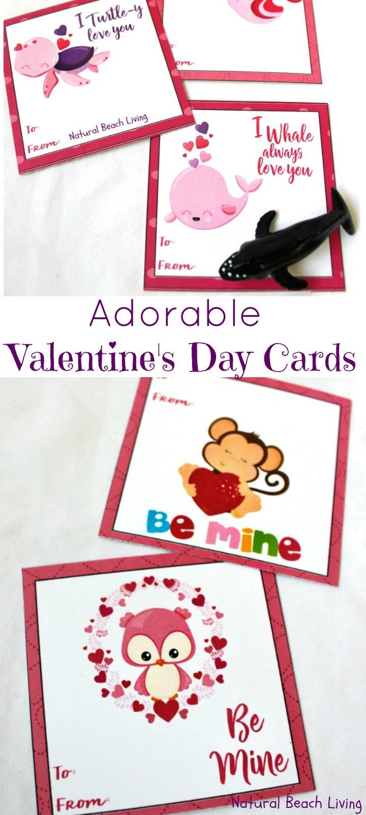 Adorable Preschool Valentine's Day Cards (Free Printables) - Natural - Free Printable Valentines Day Cards Kids