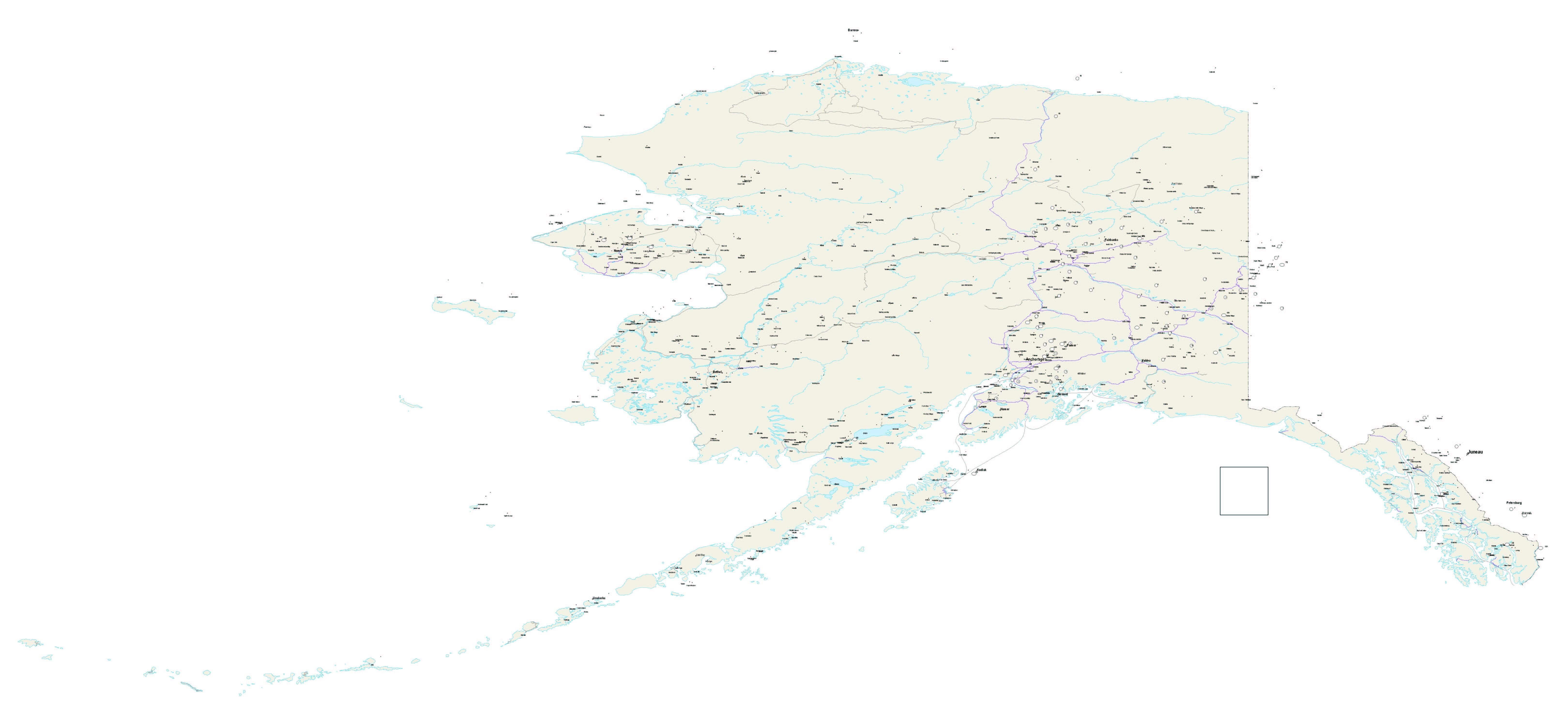 Alaska Map - Us Alaska Maps Free - Free Printable Alaska Road Maps - Free Printable Pictures Of Alaska