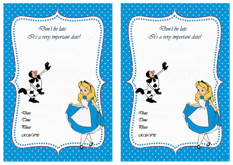 Alice In Wonderland Birthday Invitations – Birthday Printable - Mad Hatter Tea Party Invitations Free Printable
