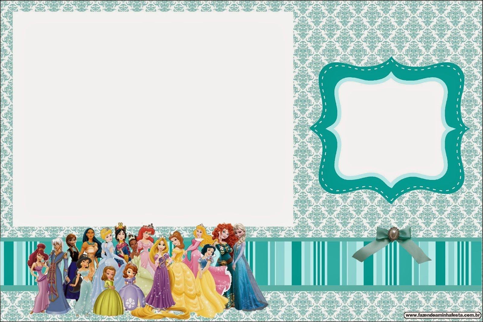 All Disney Princess: Free Printable Invitations. | Disney - Parties - Disney Princess Free Printable Invitations