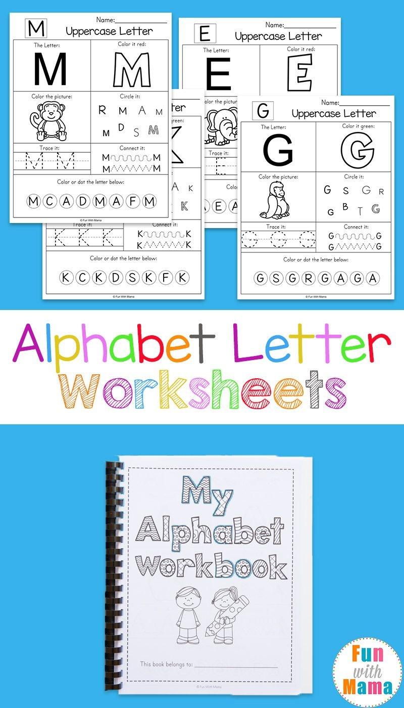 Alphabet Worksheets | Free Printables | Letter Worksheets, Alphabet - Free Printable Alphabet Worksheets For Grade 1