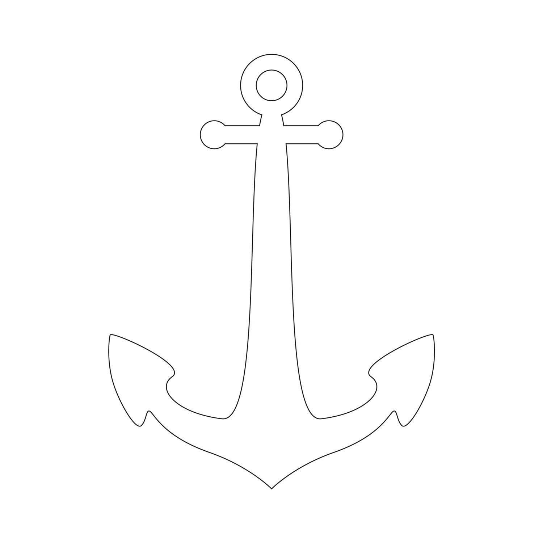 Anchor Stencil | Free Printable Stencil Templates - Free Printable Anchor Template