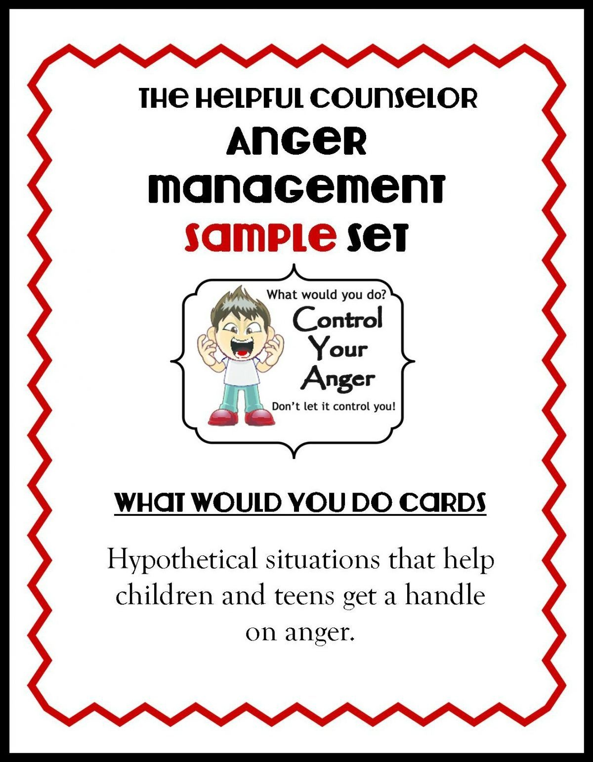 Anger Management Free Printable: Problem Solving | Counseling Ideas - Free Printable Anger Management Activities