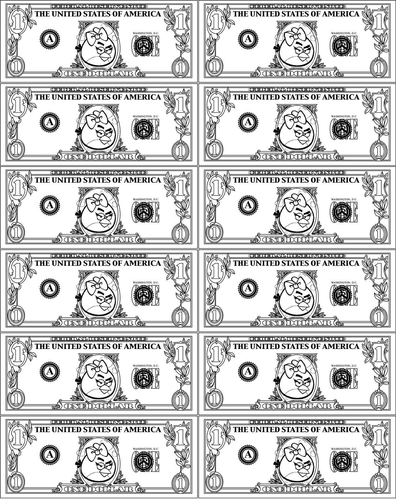 Angry Birds Play Money | Activities For Kids | Printable Play Money - Free Printable Play Money Sheets