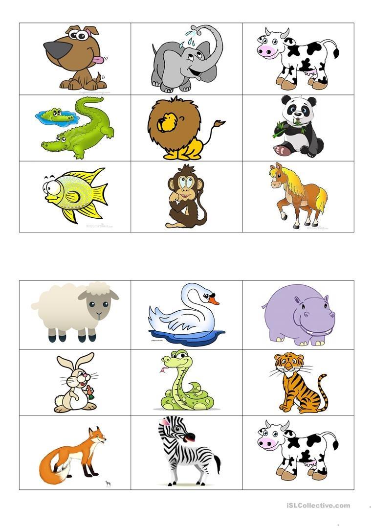 Animals Bingo Cards Worksheet - Free Esl Printable Worksheets Made - Free Printable Animal Cards