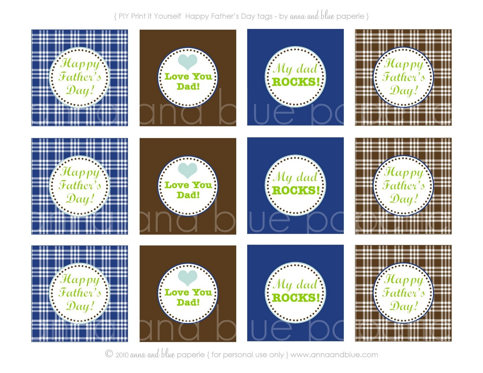 Anna And Blue Paperie: {Free Printable} Happy Father's Day! - Free Printable Father's Day Labels