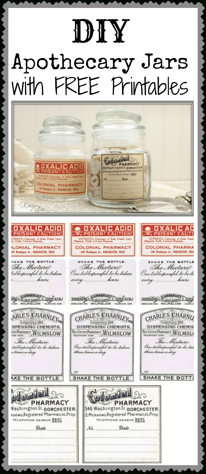 Antique Apothecary Jar With Free Printable Labels Via - Free Printable Apothecary Jar Labels