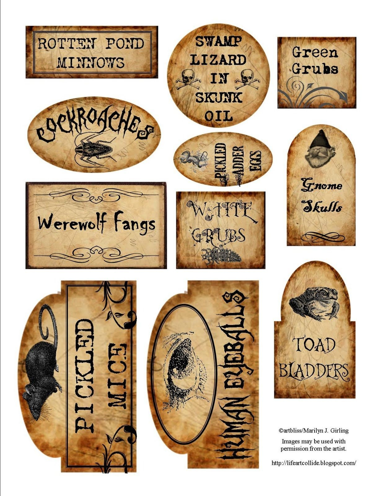 Apothecary Jar Labels For Download … | Holiday | Halloween - Free Printable Potion Labels