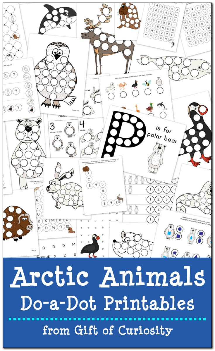 Arctic Animals Do-A-Dot Printables {Free} - Gift Of Curiosity - Do A Dot Art Pages Free Printable