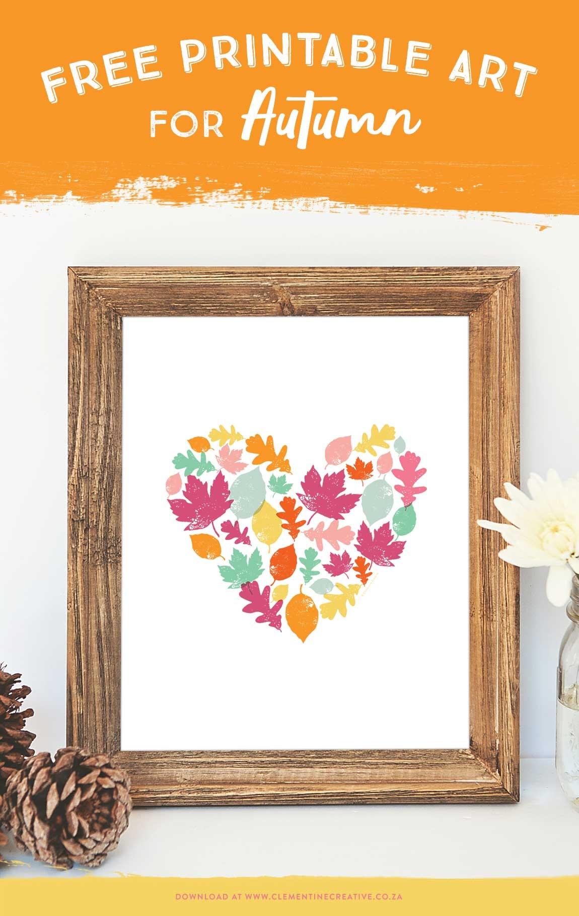 Autumn Leaves Art Print - Free Printable Art For Your Home - Free Printable Artwork To Frame