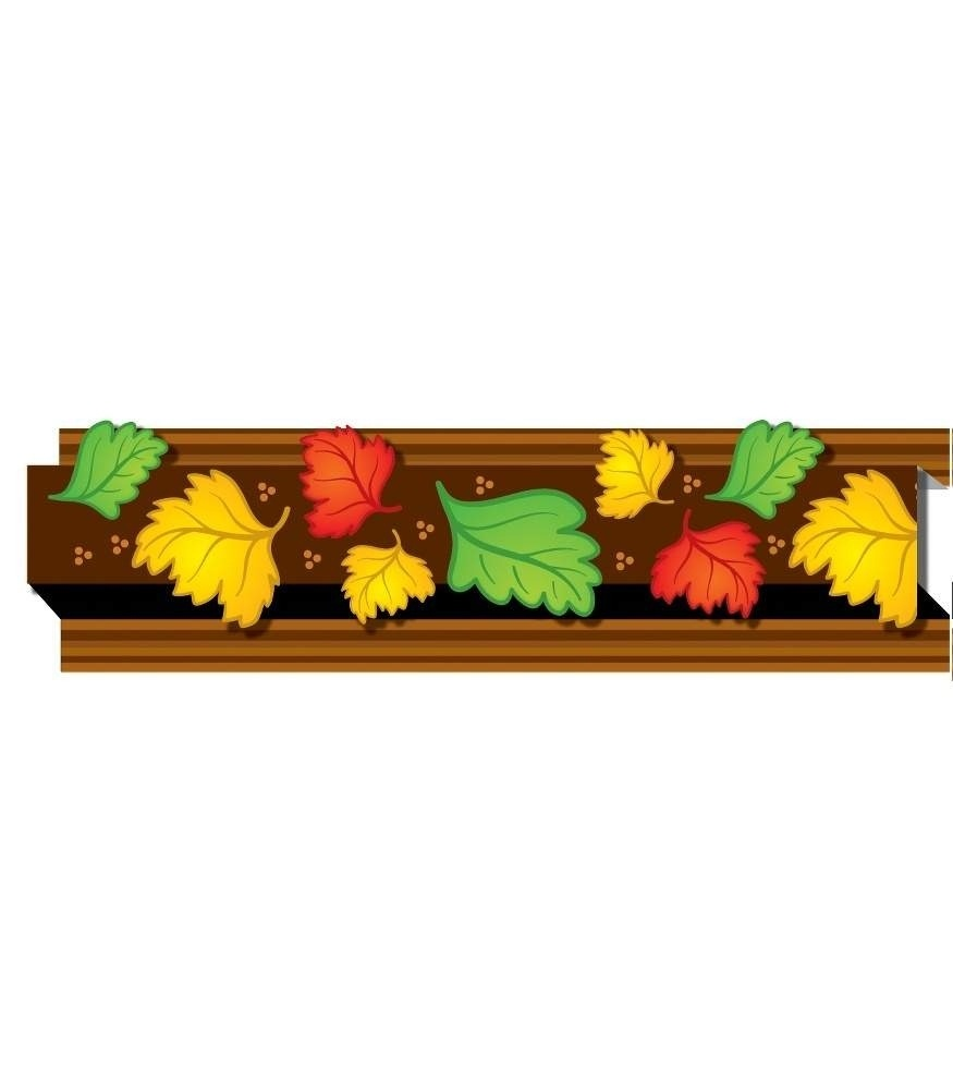 Autumn Leaves Straight Borders Regarding Fall Border For Bulletin - Free Printable Christmas Bulletin Board Borders