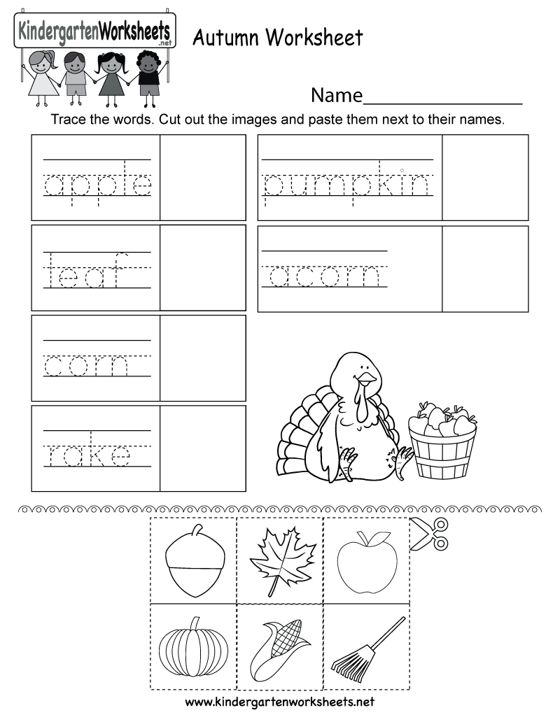 Autumn Worksheet - Free Kindergarten Seasonal Worksheet For Kids - Free Printable Autumn Worksheets