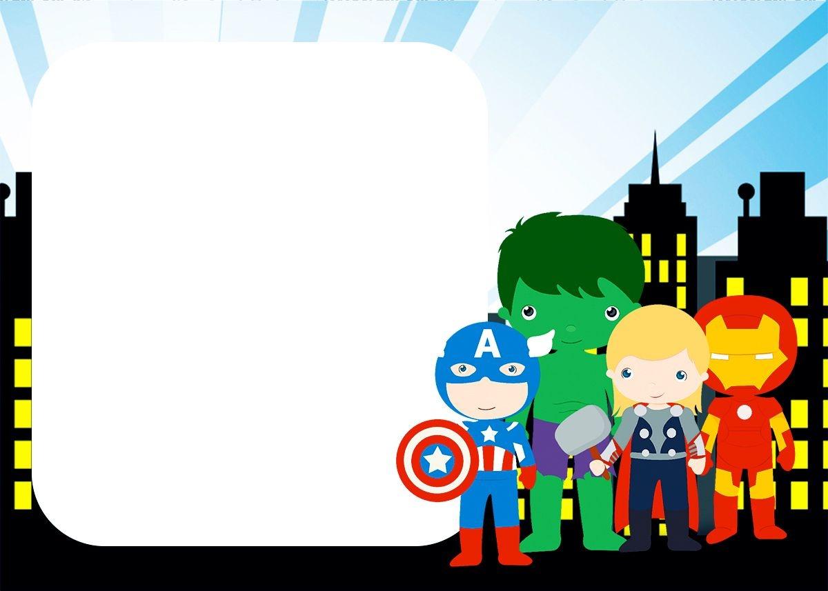 Avengers Chibi Style: Free Printable Invitations.   Baby Superheroes - Superhero Name Tags Free Printable