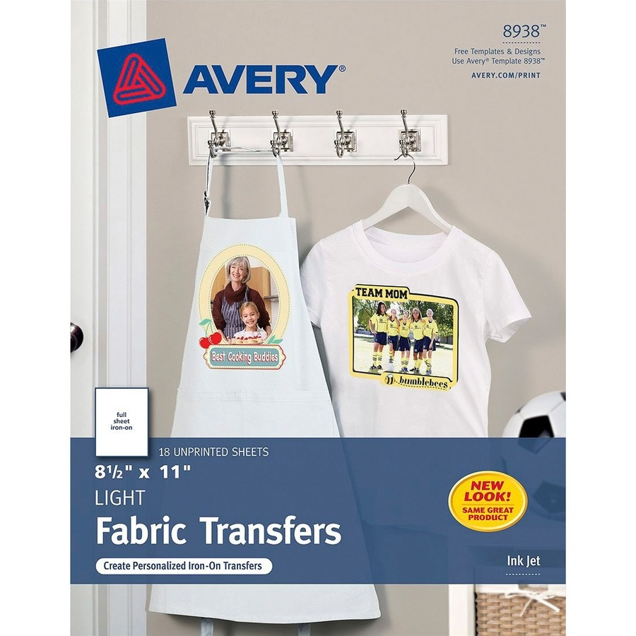 Avery 8938, Avery T-Shirt Transfer, Ave8938, Ave 8938 - Office - Free Printable Iron On Transfers For T Shirts