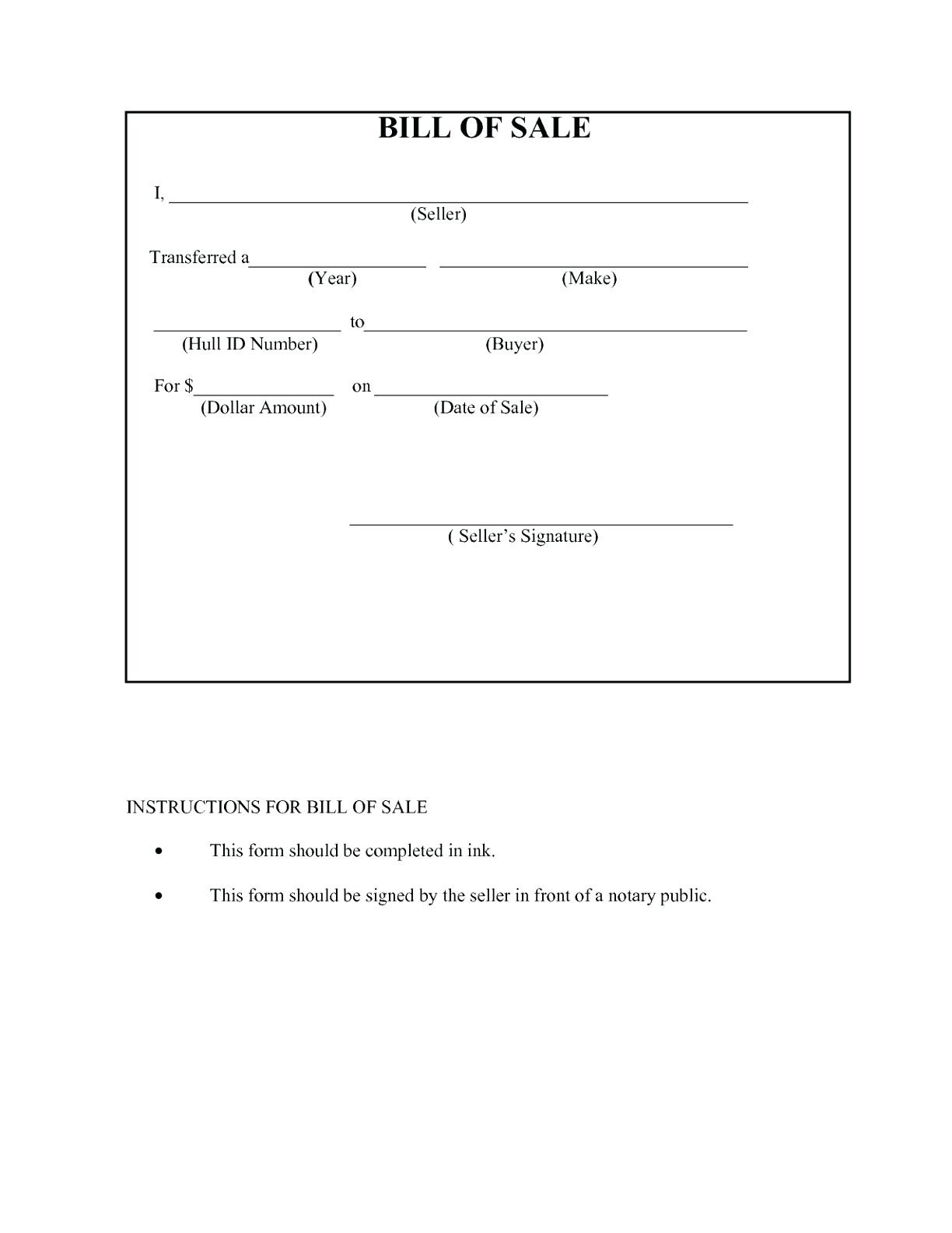 Awesome Free Bill Of Sale Template Ideas For Car Uk Vehicle Texas - Free Printable Bill Of Sale