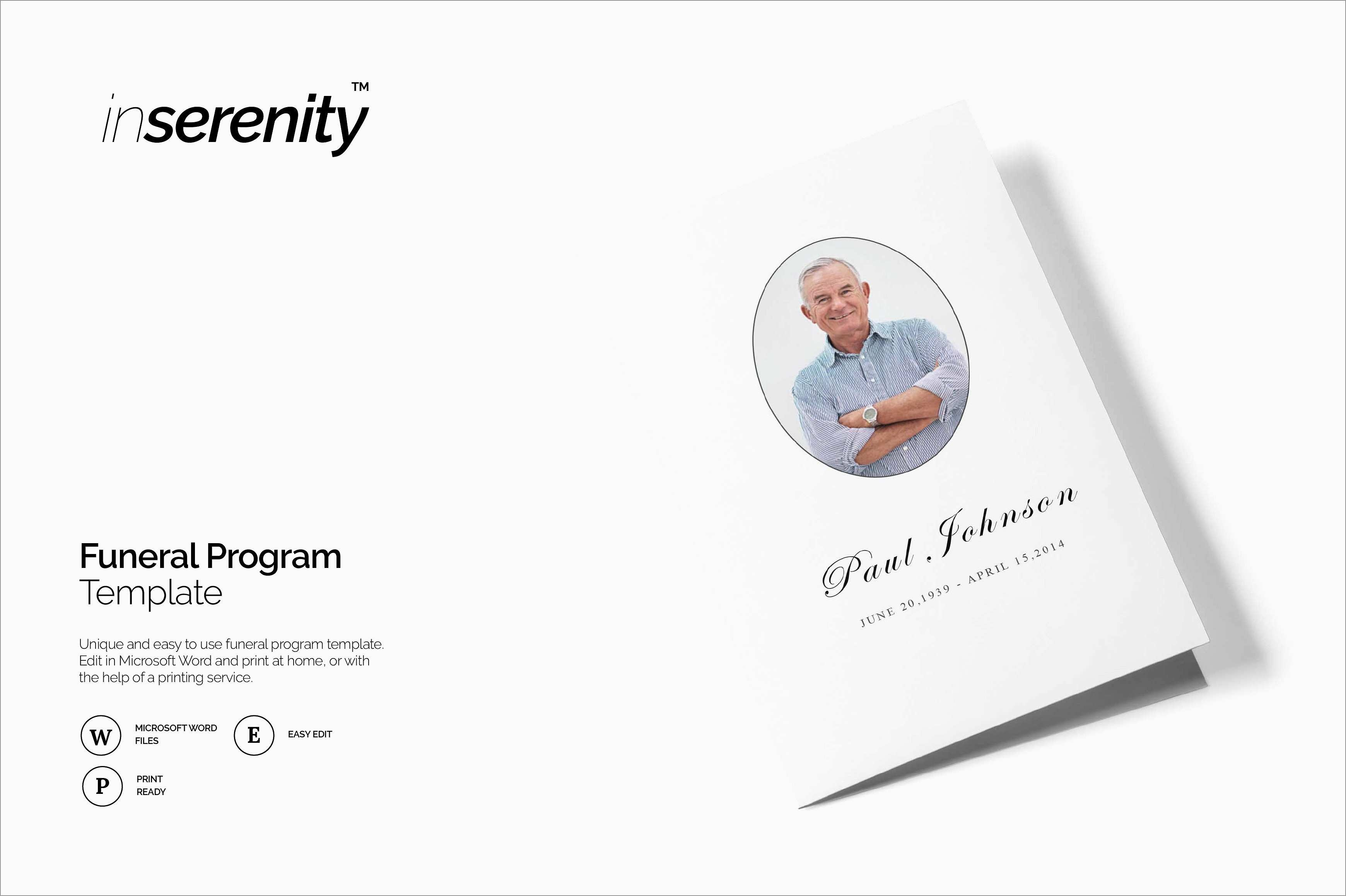 Awesome Free Funeral Program Template Download 2010   Best Of Template - Free Printable Funeral Program Template