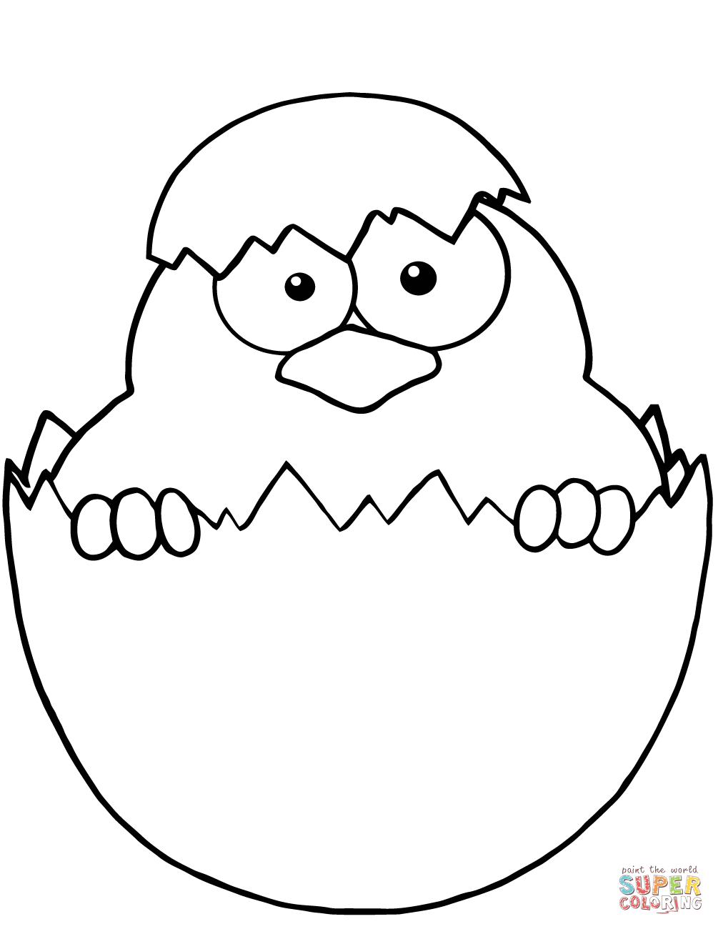 Baby Chicks Coloring Pages | Free Printable Pictures - Free Printable Easter Baby Chick Coloring Pages