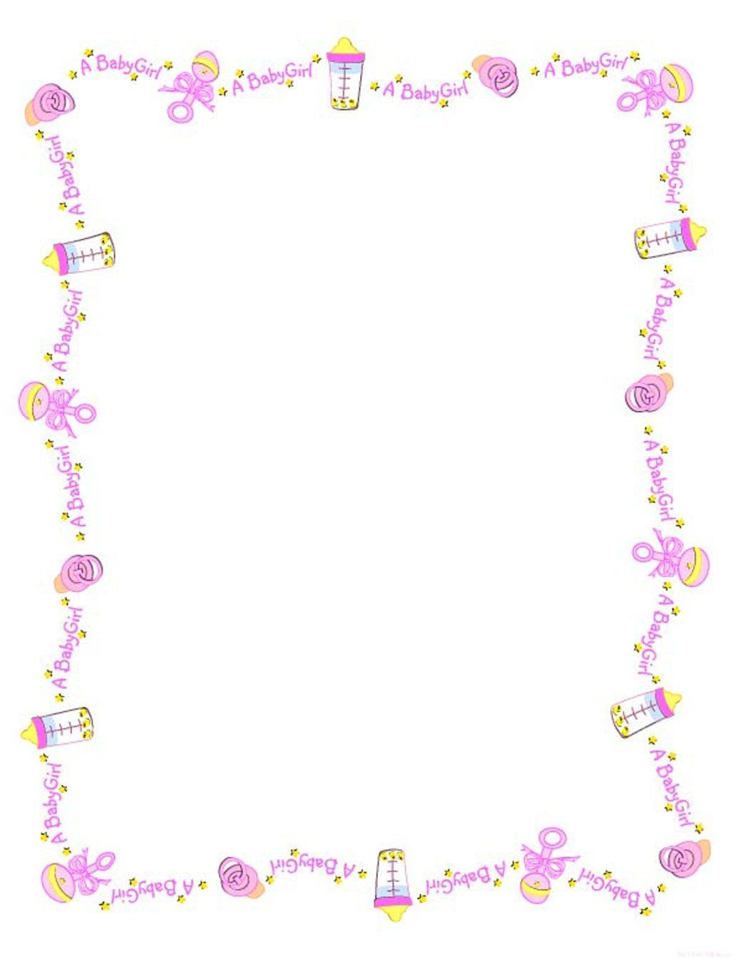 Baby Girl Borders Clipart - Clipart Kid | Projects | Baby Frame - Free Printable Baby Borders For Paper