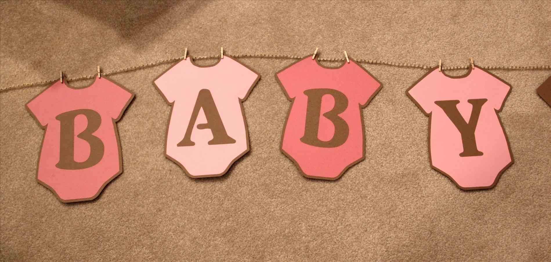 Baby Shower Banner Free Printable. Whole Alphabet Banner Pink Gold - Baby Shower Bunting Free Printable