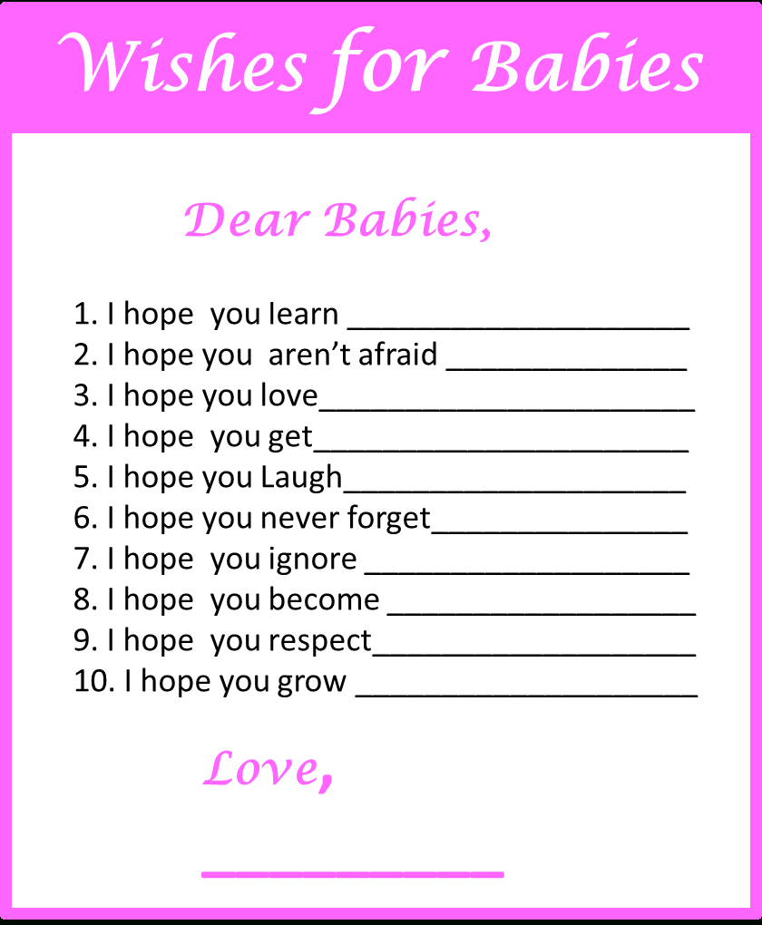 Baby Shower Games For Twins - My Practical Baby Shower Guide - Free Printable Baby Shower Games For Twins
