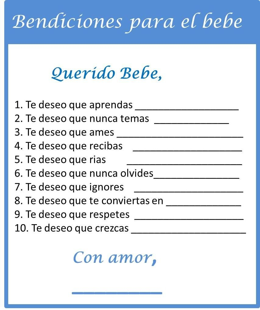 Baby Shower Games In Spanish - My Practical Baby Shower Guide | Baby - Free Printable Baby Shower Games In Spanish