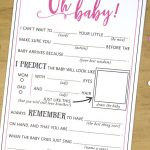 Baby Shower Mad Libs Advice Card Baby Girl Hot Pink | Etsy   Baby Shower Mad Libs Printable Free