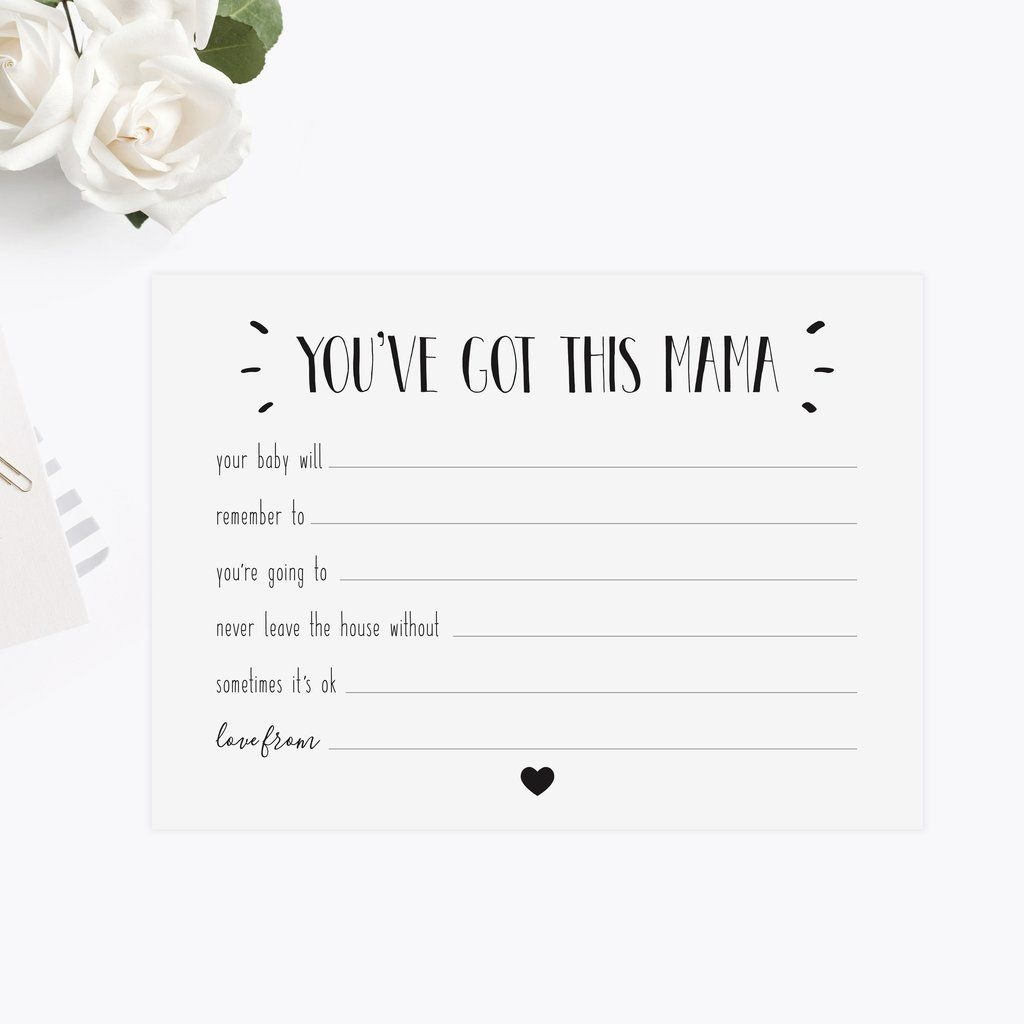 Baby Shower New Mum Advice Cards In 2019   Baby Shower   Baby Shower - Free Mommy Advice Cards Printable