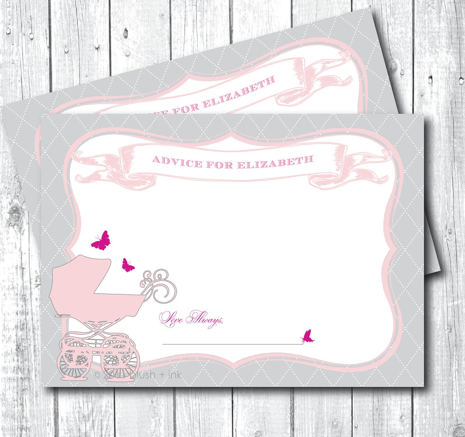 Baby Shower Registry Cards Template Free - Tutlin.psstech.co - Free Printable Baby Registry Cards