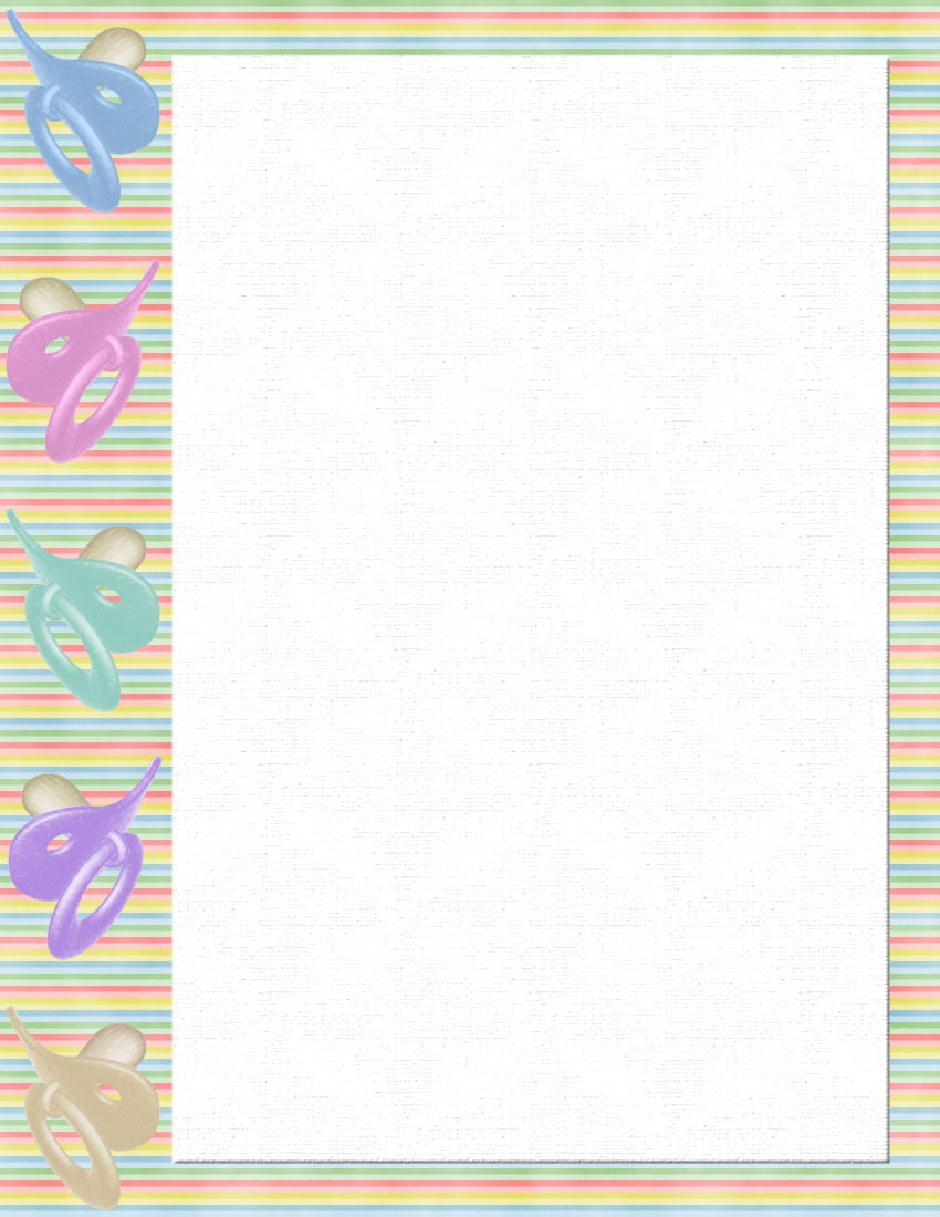 Baby Stationery Template - Kaza.psstech.co - Free Printable Baby Borders For Paper